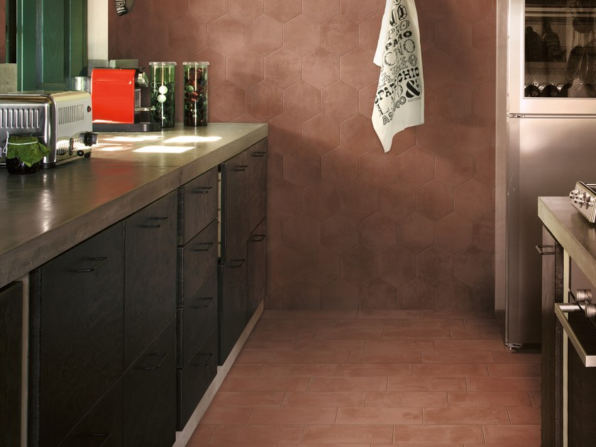 Porcelain stoneware wall/floor tiles with terracotta effect EPOCA - Ragno