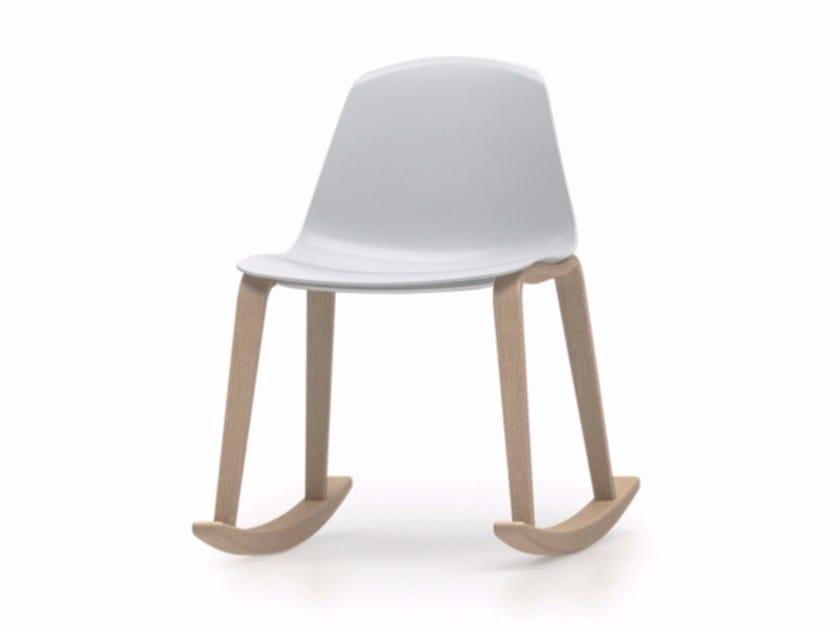 Rocking polypropylene chair EPOCA | Rocking chair - Luxy