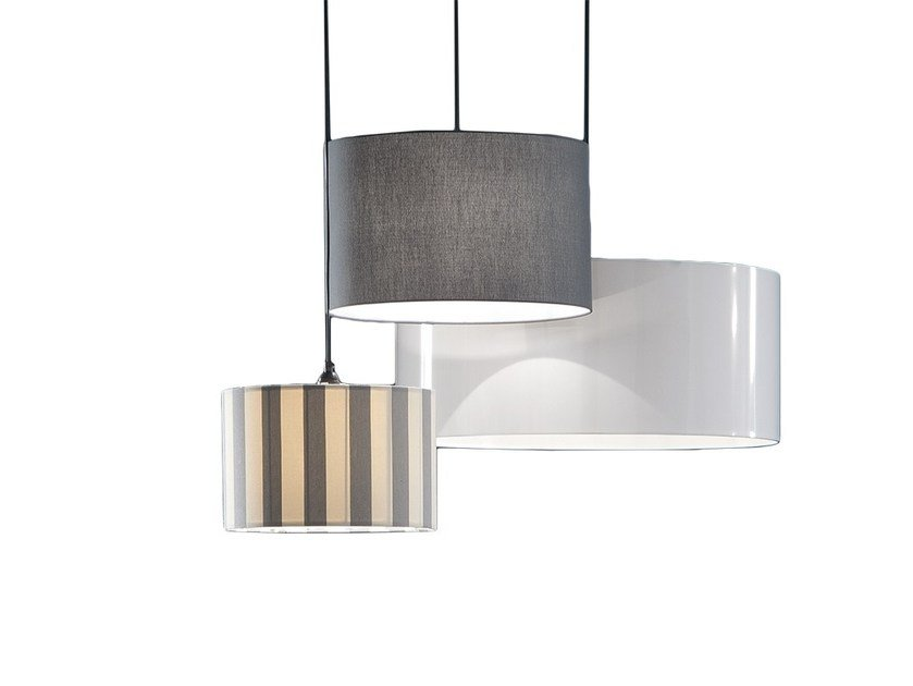 Contemporary style direct-indirect light fabric pendant lamp EPOQUE by Chaarme