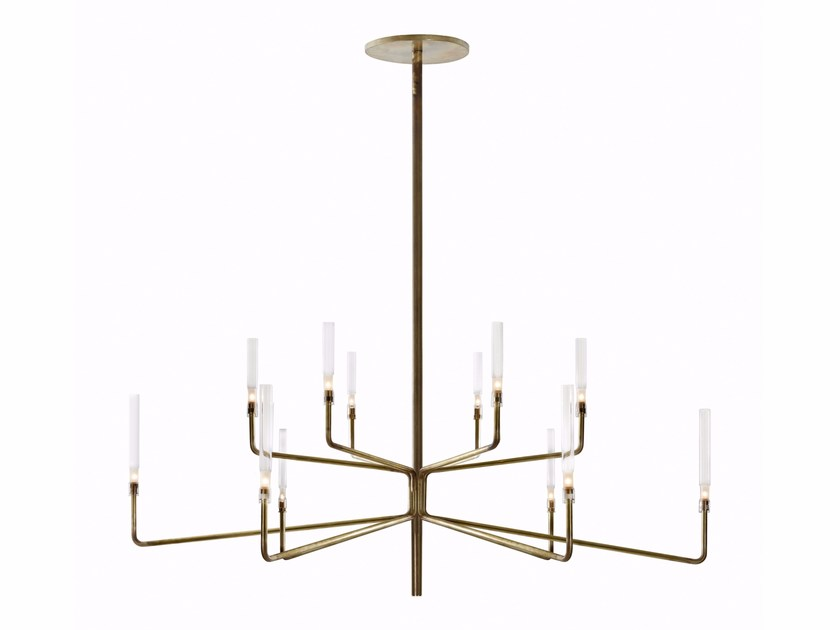 Brass chandelier with dimmer EPSILON - Gallotti&Radice