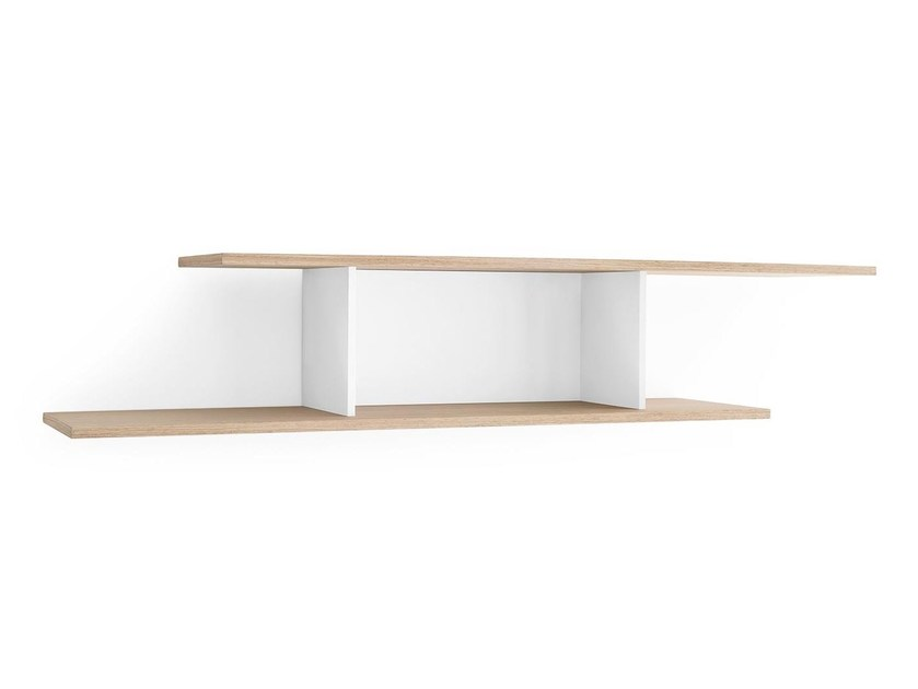 Wooden wall shelf EQUAL - Calligaris