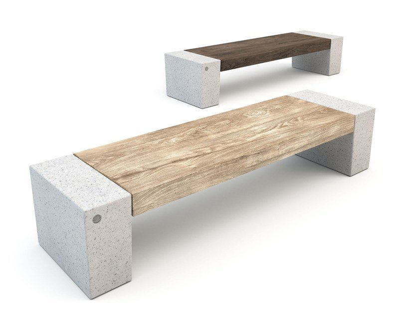 Backless porcelain stoneware Bench ERACLEA STONEWARE by Bellitalia