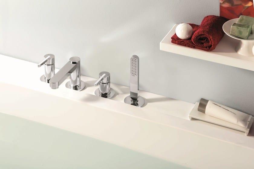 4 hole bathtub set with diverter with hand shower ERGO | 4 hole bathtub set by NEWFORM