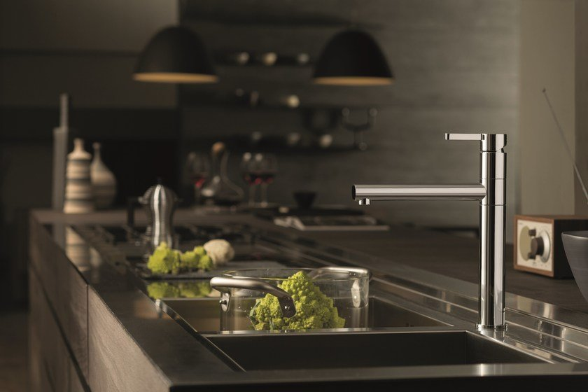 Kitchen mixer tap with swivel spout ERGO KITCHEN | 1 hole kitchen mixer tap - NEWFORM