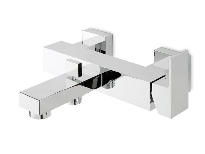 Wall-mounted single handle bathtub mixer with diverter ERGO OPEN | Wall-mounted bathtub mixer by NEWFORM
