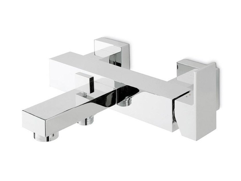 Wall-mounted single handle bathtub mixer with diverter ERGO-Q | Wall-mounted bathtub mixer - NEWFORM
