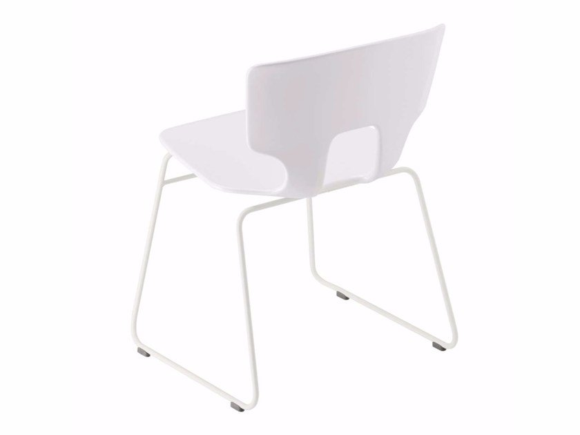 Sled base stackable chair ERICE CHAIR - 50B by Alias