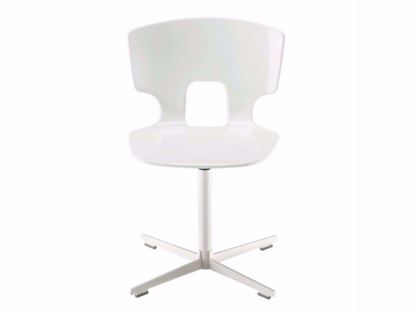 Swivel chair with 4-spoke base ERICE CROSS - 50D - Alias