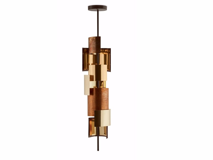 LED brass pendant lamp ERIS by Gallotti&Radice