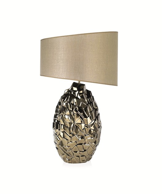 Contemporary style ceramic table lamp EROCK II DL by ENVY