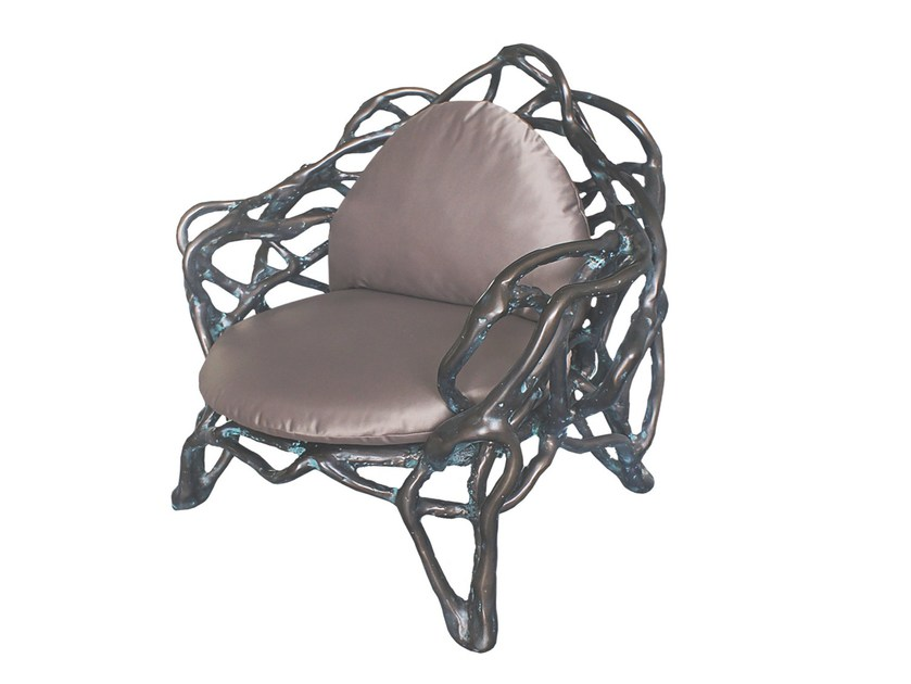 Glass-fibre easy chair with armrests EROS K1040 - Karpa