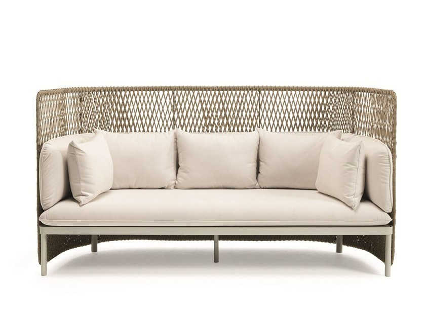 Divano a 3 posti con schienale alto esedra divano con - Divano schienale alto ...