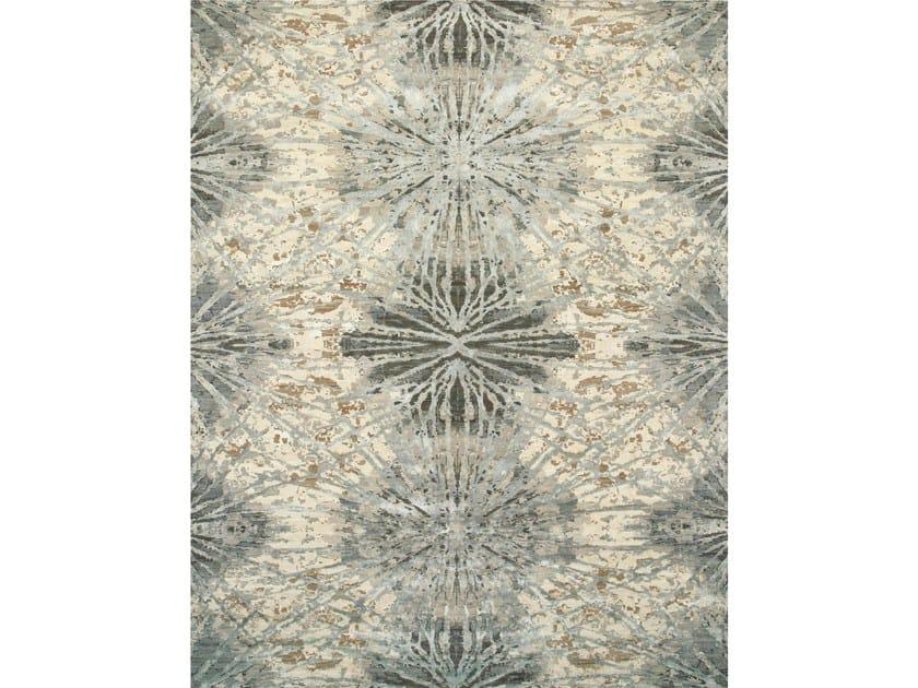 Handmade rug ESK-400 Antique White/Slate Blue by Jaipur Rugs