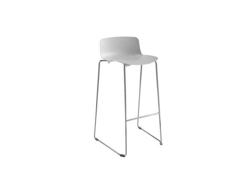 Contemporary style sled base high plastic stool with footrest ESPRIT by ESTEL GROUP