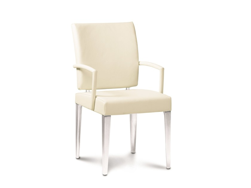 Upholstered metal chair ESRADA - Jori