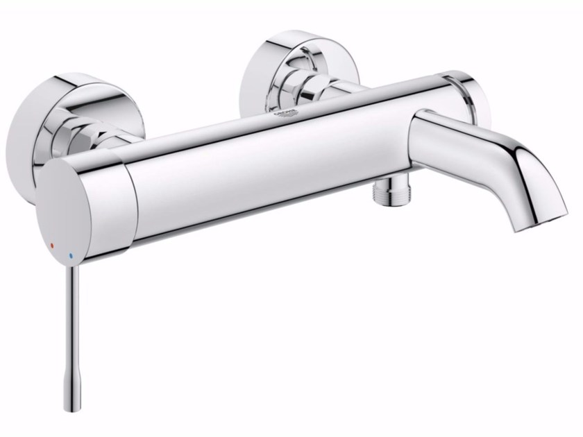 Wall-mounted single handle bathtub mixer with temperature limiter ESSENCE NEW | Bathtub mixer - Grohe