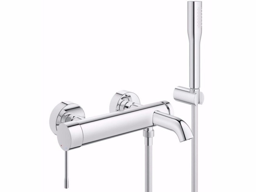 Wall-mounted bathtub mixer with hand shower ESSENCE NEW | Bathtub mixer with hand shower - Grohe