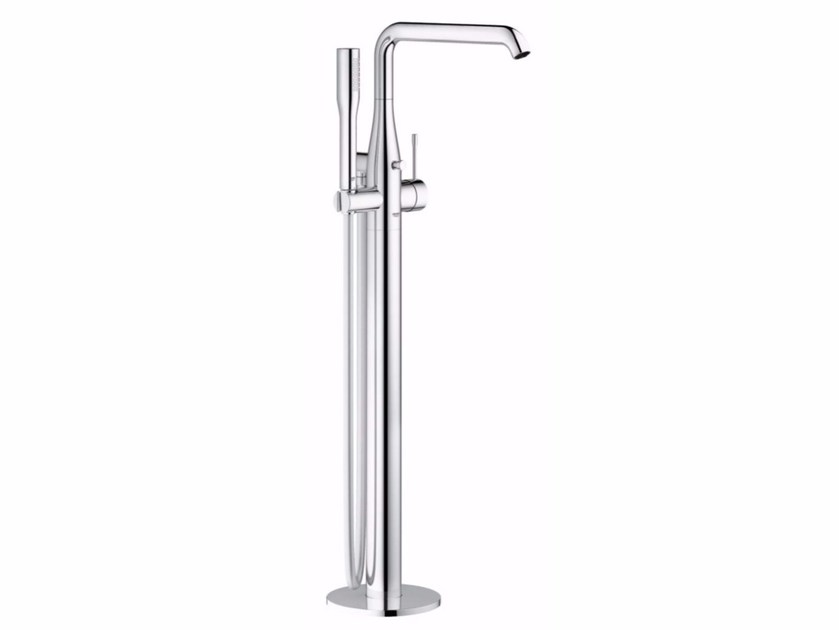 Floor standing bathtub mixer with hand shower ESSENCE NEW | Floor standing bathtub mixer by Grohe