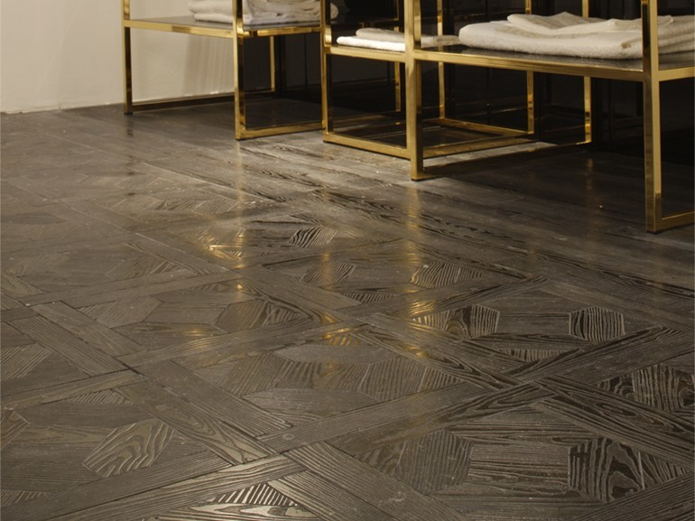 Marble flooring with wood effect ESSENCE - QUADROTTA 1G - Lithos Mosaico Italia - Lithos