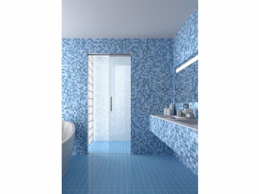Porta scorrevole interno muro per box doccia essential doccia by scrigno - Porta scorrevole per bagno ...