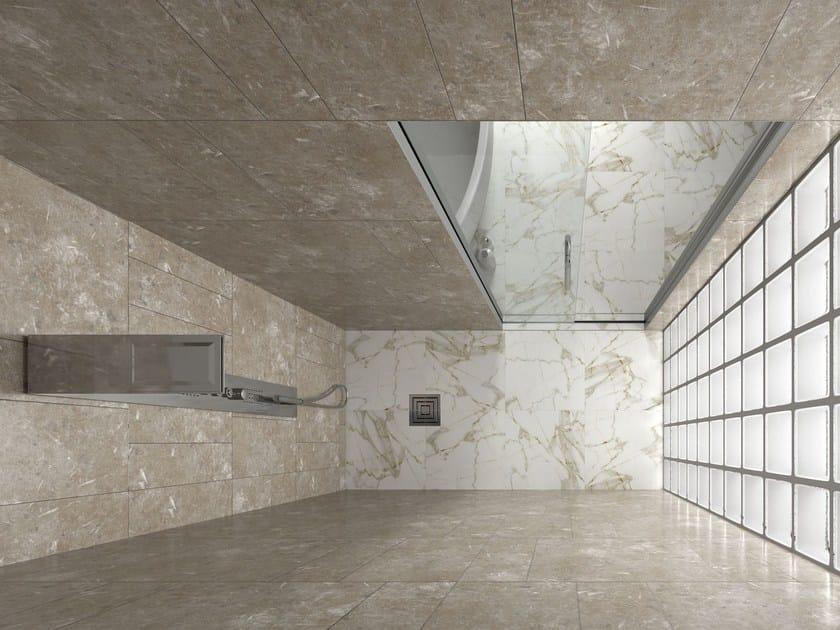 Box doccia a nicchia con porta scorrevole essential doccia - Doccia senza porta ...