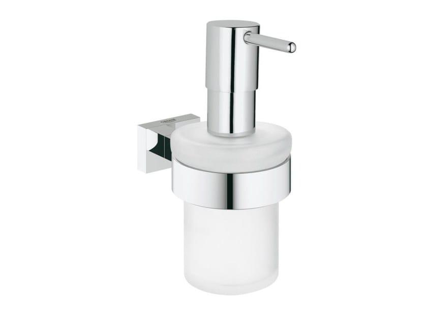 Satin glass liquid soap dispenser ESSENTIALS CUBE | Liquid soap dispenser - Grohe