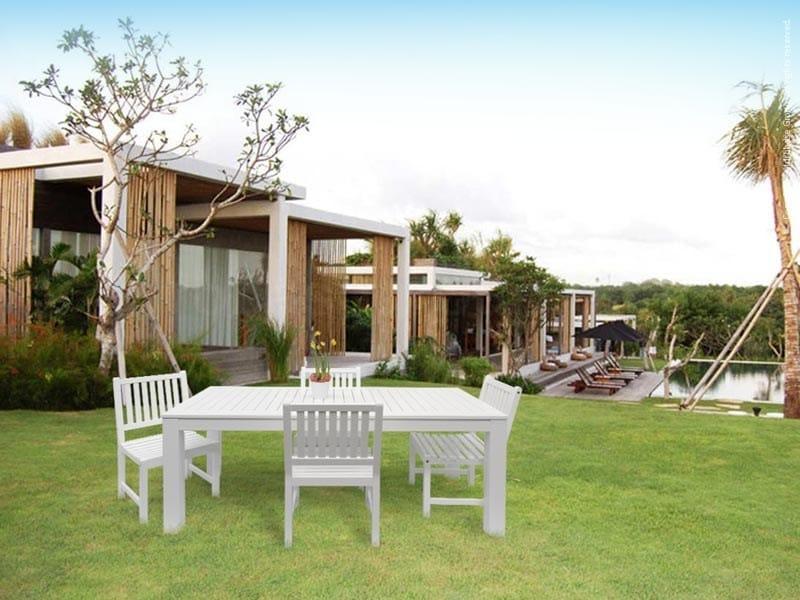 Rectangular wooden garden table ESTATE - Enjoy your Life by Idrobase Group