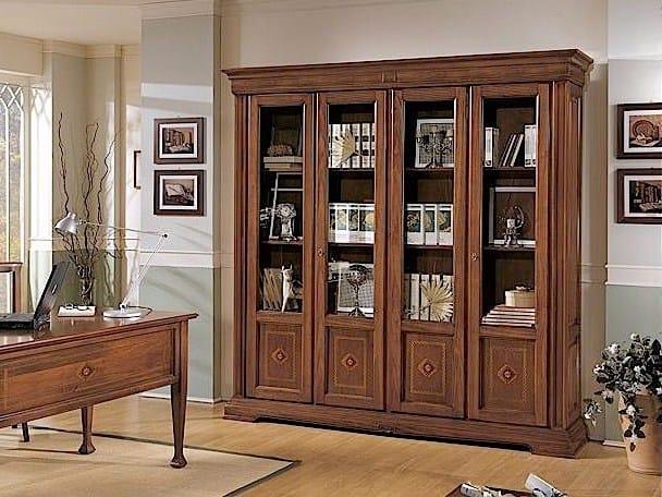 Freestanding solid wood bookcase ESTENSI | Bookcase - Arvestyle