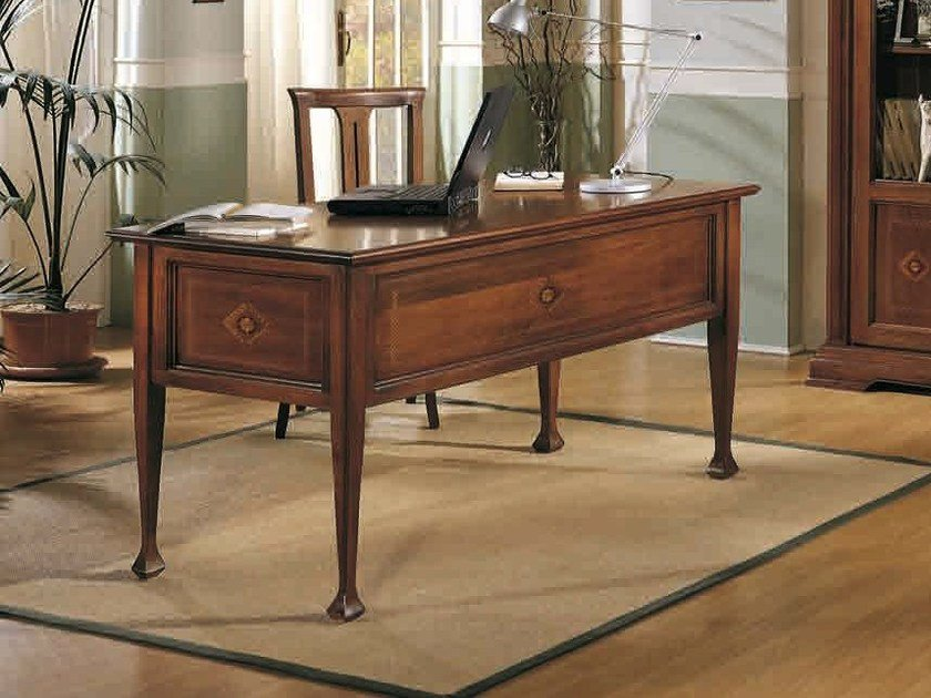 Rectangular solid wood office desk ESTENSI | Office desk - Arvestyle