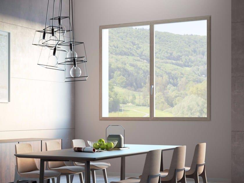 Aluminium flush-with-wall window ESTER - ES FINESTRA