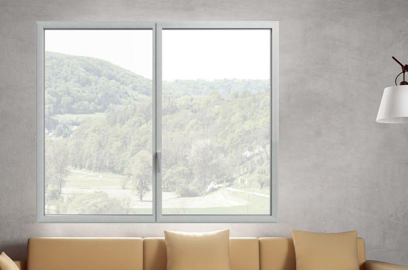 Finestra a filo muro a taglio termico in alluminio ester es finestra - Aprire finestra muro esterno ...
