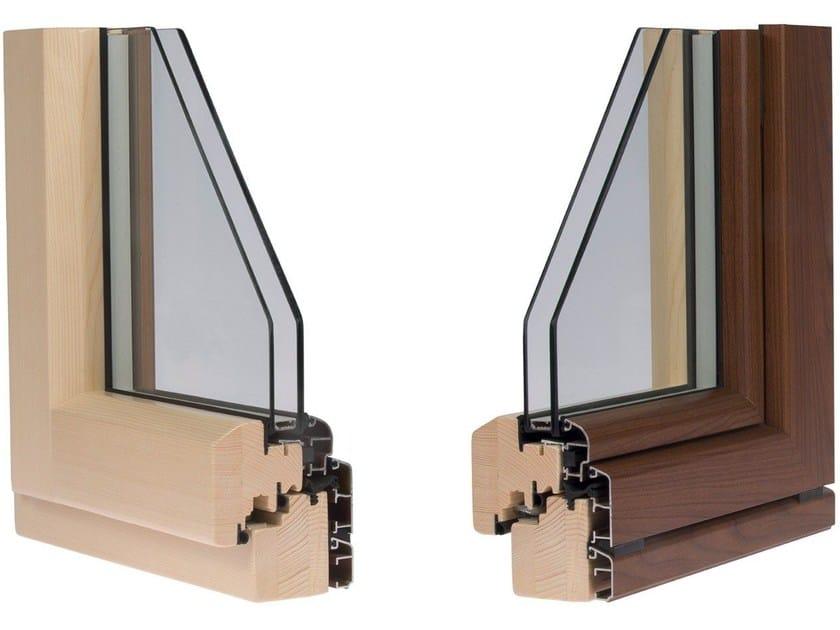 Finestra con doppio vetro in alluminio e legno eternity alpilegno - Finestre legno alluminio opinioni ...