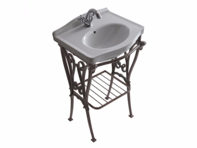 Aluminium console sink ETHOS 55 | Console sink by GALASSIA