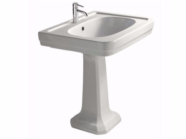 Pedestal ceramic washbasin ETHOS 60 | Washbasin - GALASSIA