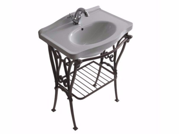 Aluminium console sink ETHOS 65 | Console sink by GALASSIA