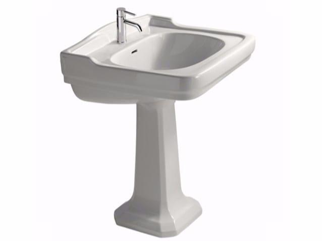 Pedestal ceramic washbasin ETHOS 71 | Pedestal washbasin - GALASSIA