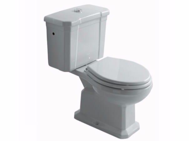 Close coupled ceramic toilet ETHOS 8426 | Close coupled toilet - GALASSIA
