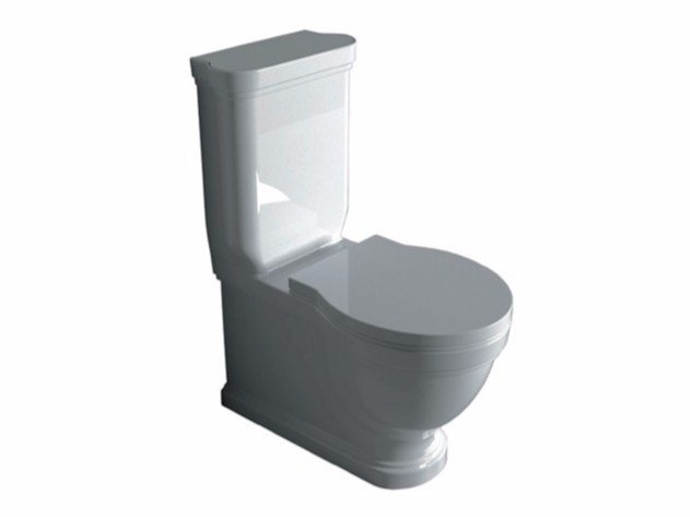 Close coupled ceramic toilet ETHOS 8441 | Close coupled toilet - GALASSIA