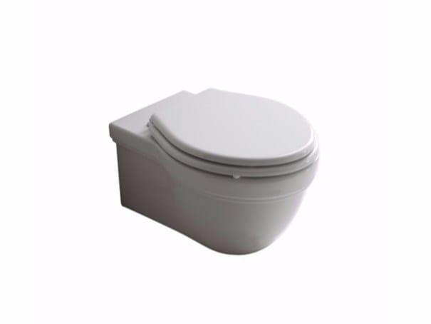Wall-hung ceramic toilet ETHOS | Wall-hung toilet - GALASSIA