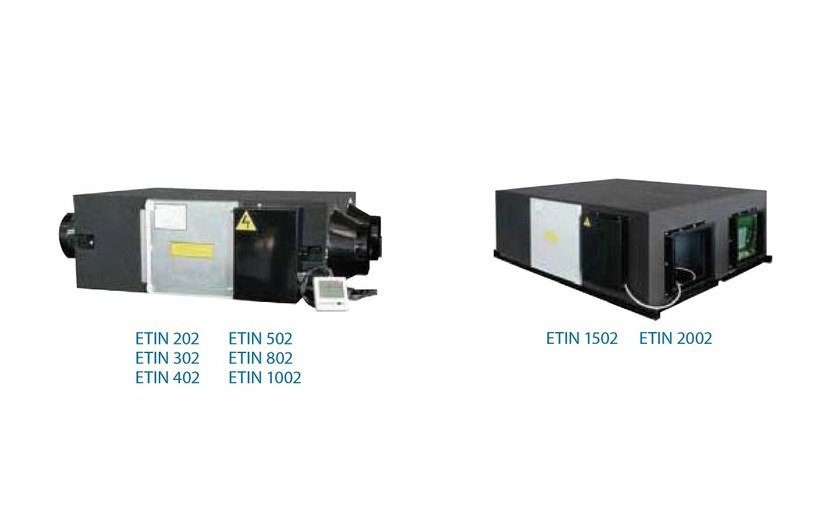 Industrial Heat recovery unit for false ceiling ETIN | Heat recovery unit - Termal Group