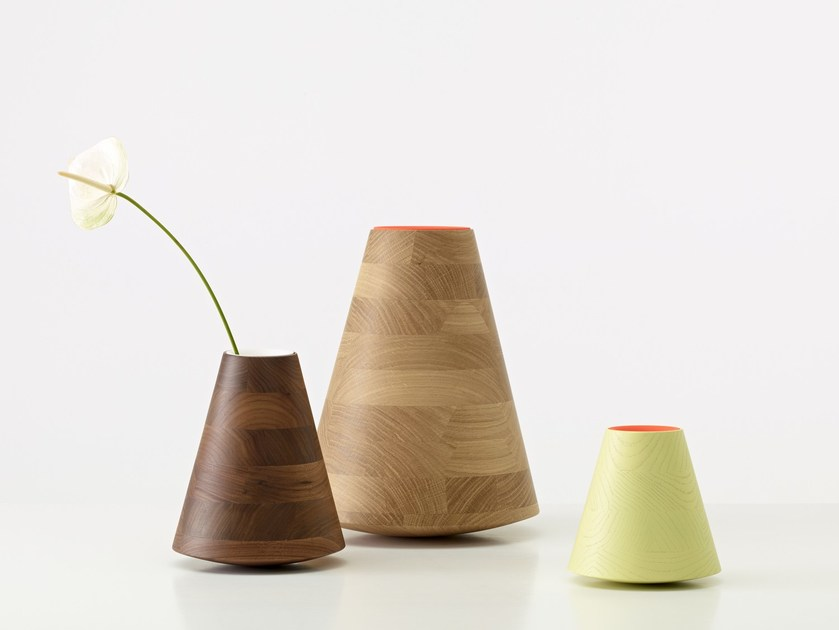 Wooden vase ETNA by PER/USE