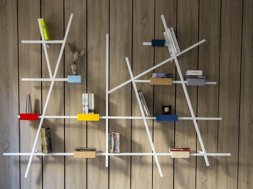 Lacquered wooden bookcase ETTA BIG by Kann Design