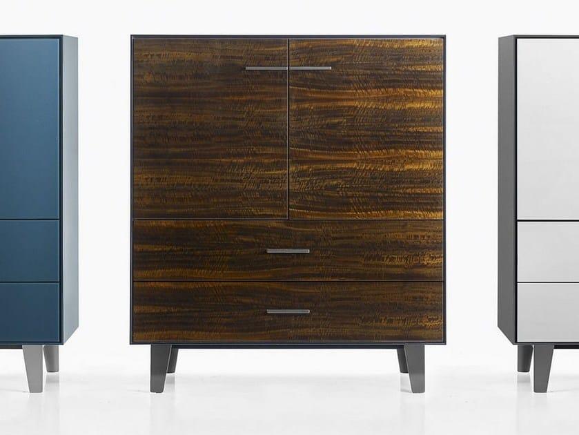 Eucalyptus highboard with drawers EUCALIPTO | Wooden highboard - B&B Italia
