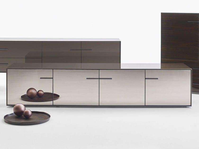 Mirrored glass sideboard with doors EUCALIPTO | Sideboard - B&B Italia