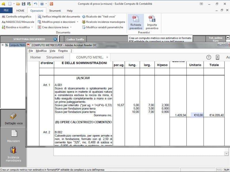 Analisi prezzi computo metrico e contabilit dei lavori - Computo metrico estimativo esempio casa ...