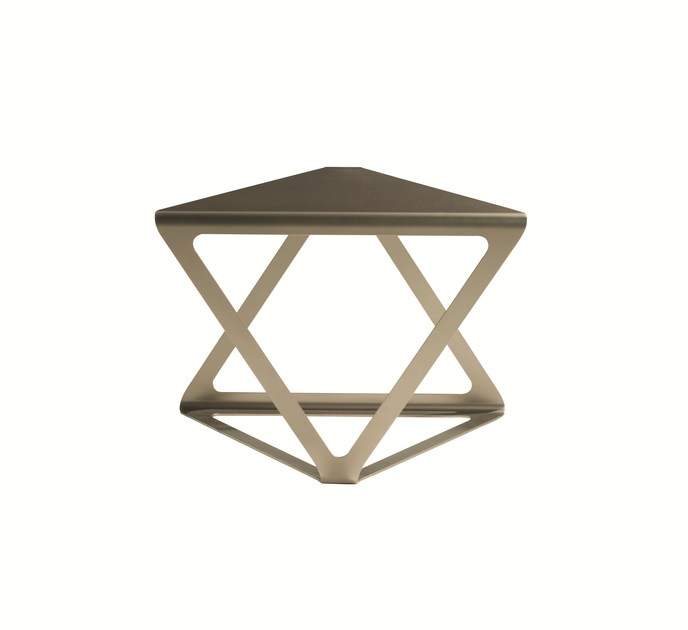 Lacquered triangular steel coffee table EUCLIDE by ROCHE BOBOIS