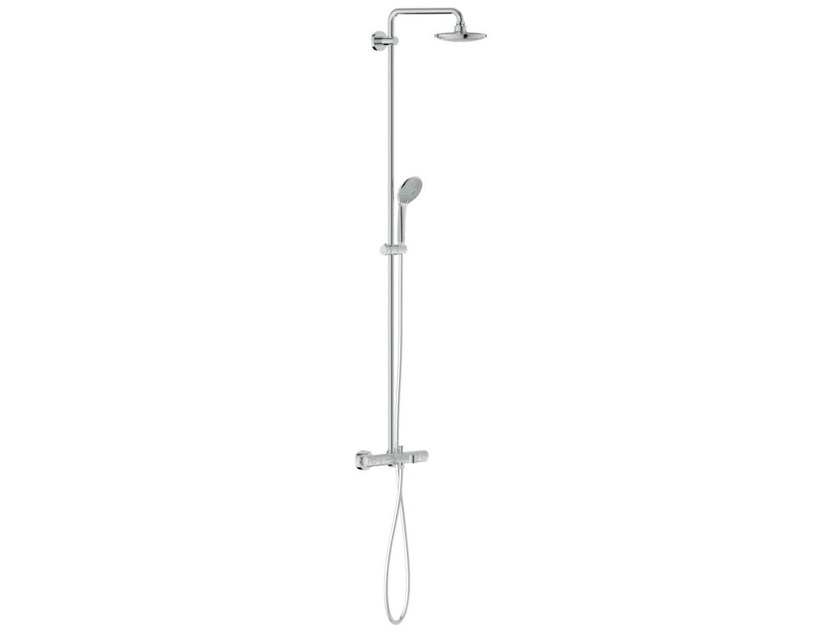 Wall-mounted shower panel with overhead shower EUPHORIA SYSTEM 180 | Thermostatic shower panel by Grohe