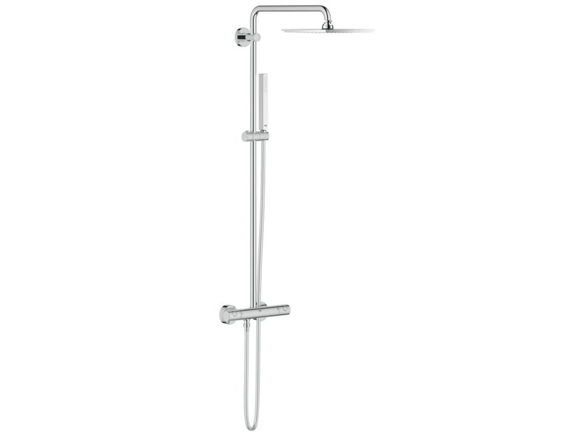 Wall-mounted thermostatic shower panel with overhead shower EUPHORIA XXL 230 by Grohe