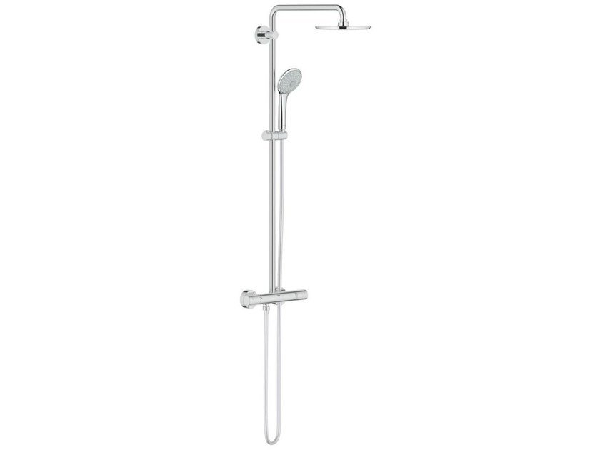 Wall-mounted thermostatic shower panel with overhead shower EUPHORIA XXL SYSTEM 210 | Thermostatic shower panel by Grohe