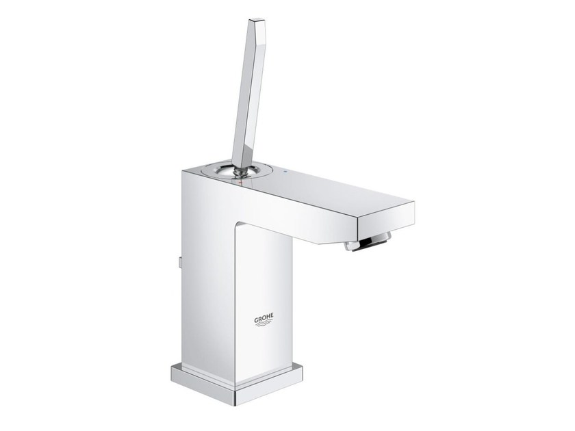 Countertop single handle washbasin mixer with flow limiter EUROCUBE JOY SIZE S | Washbasin mixer with pop up waste - Grohe